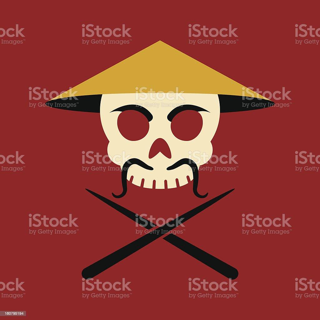 Jolly Genghis royalty-free stock vector art