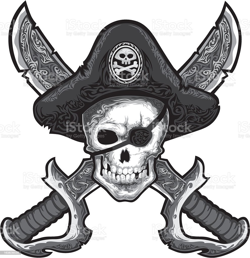 Jolly Roger royalty-free stock vector art