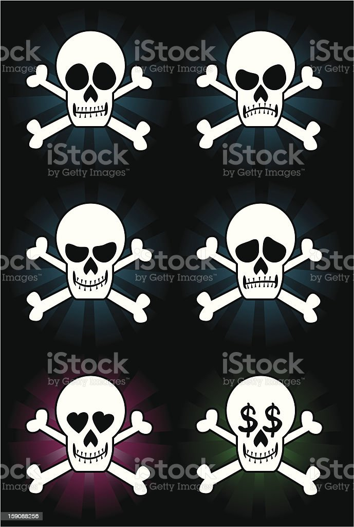 jolly rogers royalty-free stock vector art