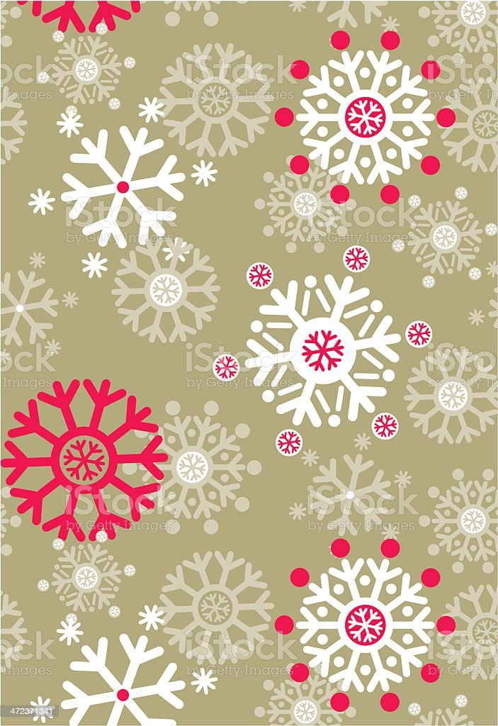 Jolly Snowflake Repeat Pattern in Gold royalty-free stock vector art