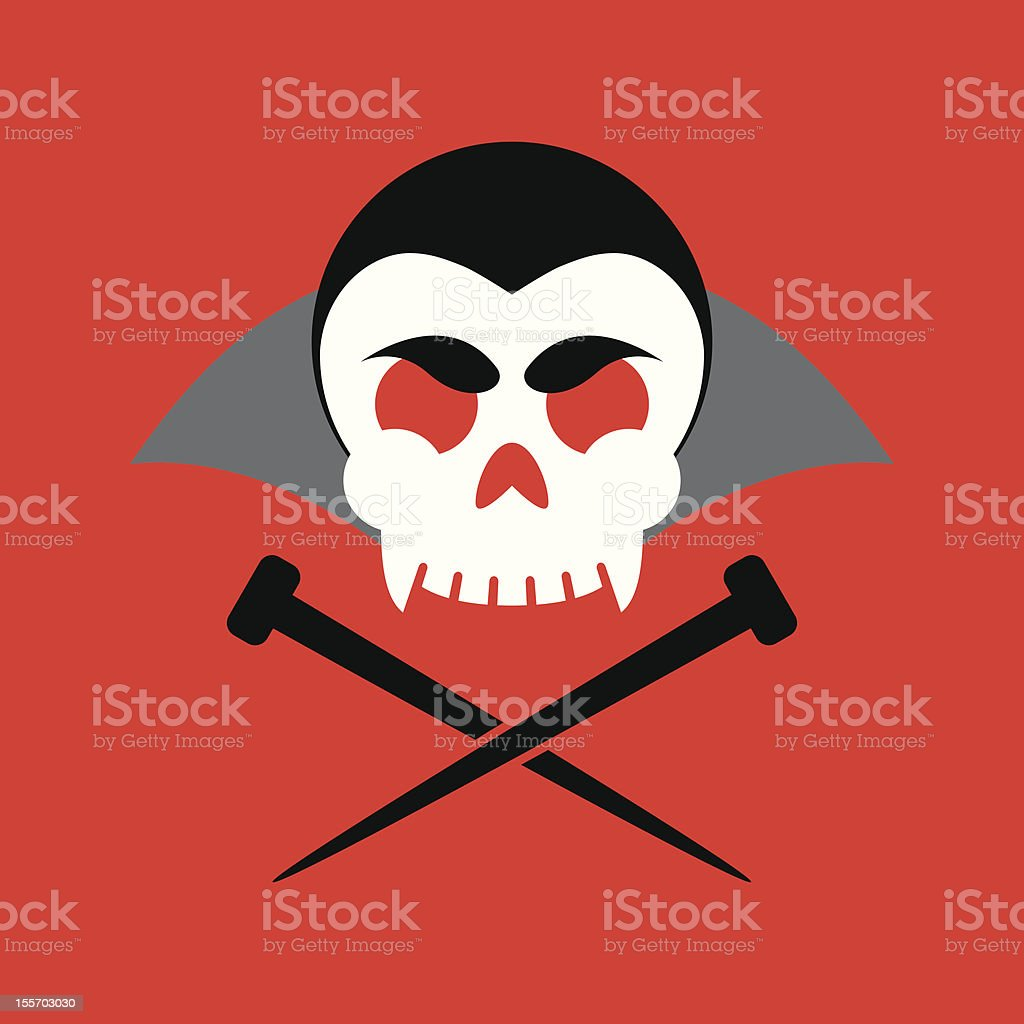Jolly Vampire royalty-free stock vector art