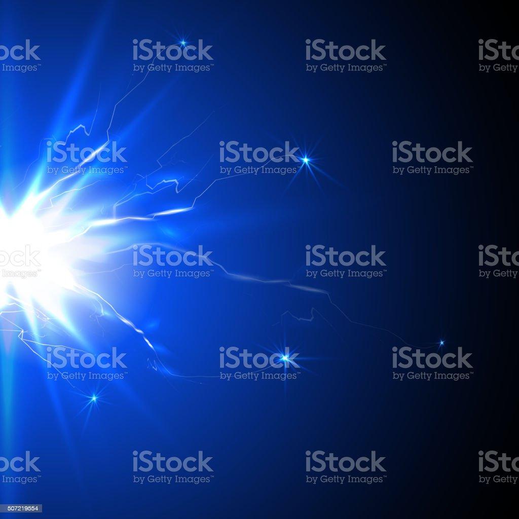Jolt of electricity, flash plasma vector art illustration