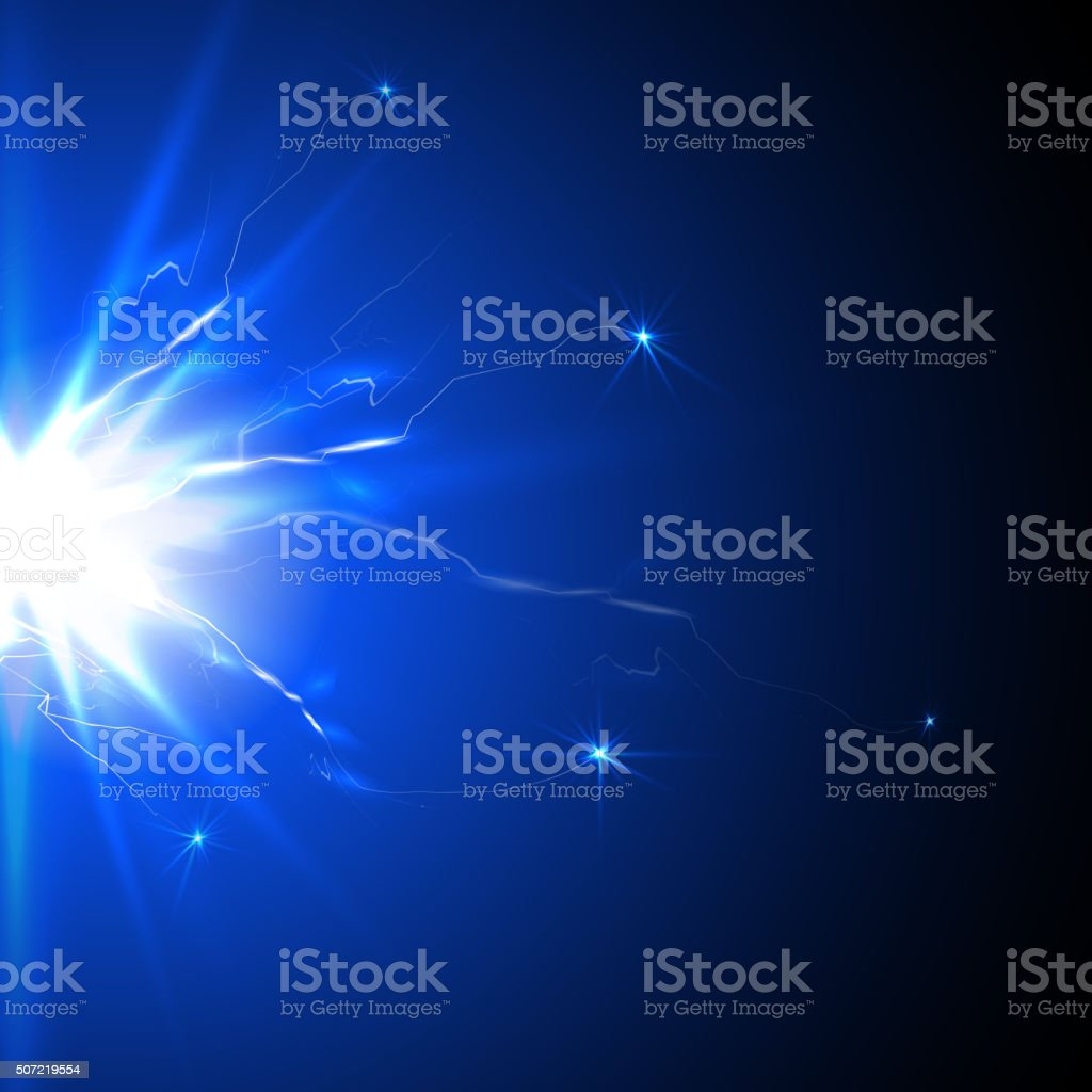 Jolt of electricity, flash plasma vector art illustration