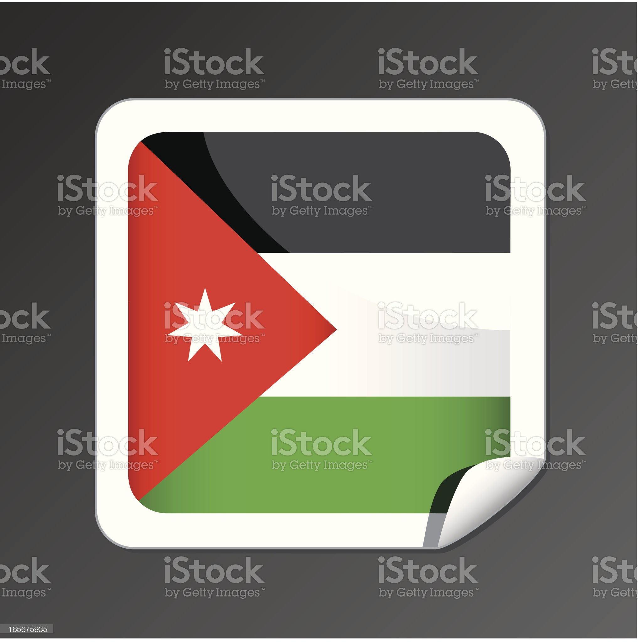 Jordan flag icon royalty-free stock vector art