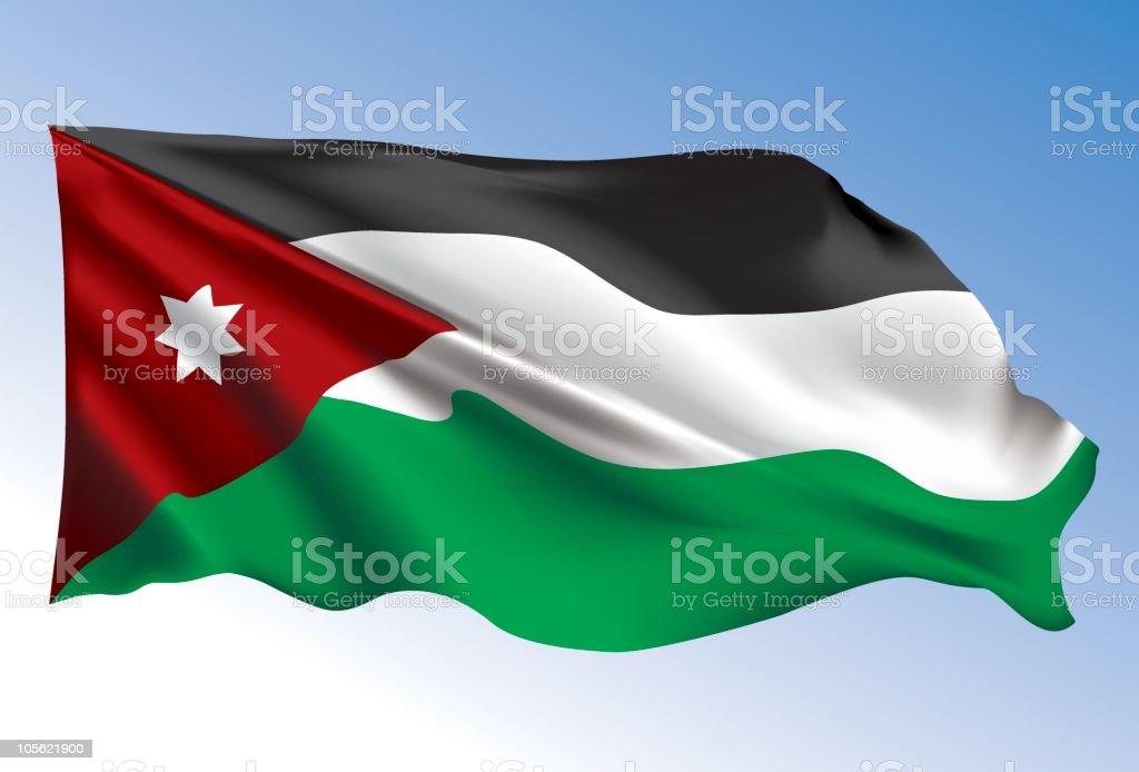 Jordan flag royalty-free stock vector art