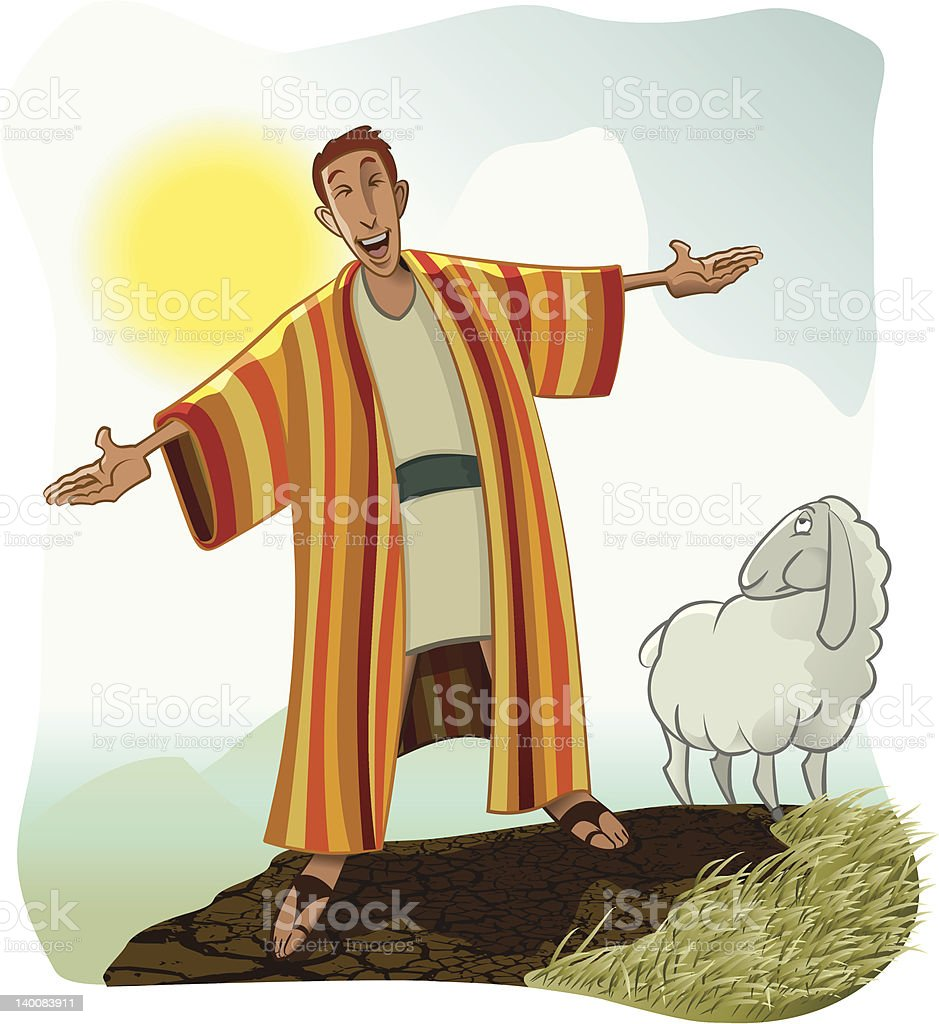 Joseph's Coat of Many Colors vector art illustration
