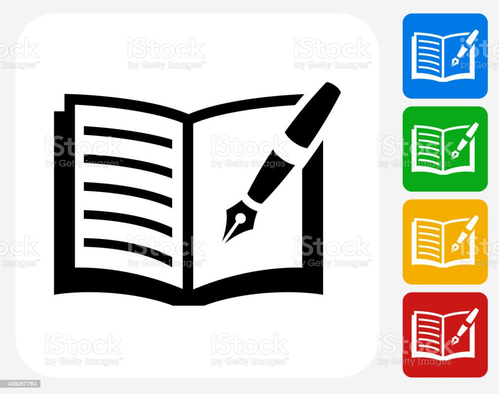 Journal Icon Flat Graphic Design vector art illustration