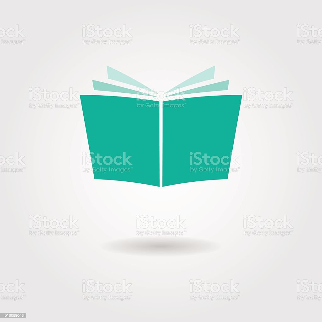 journal icon with shadow vector art illustration