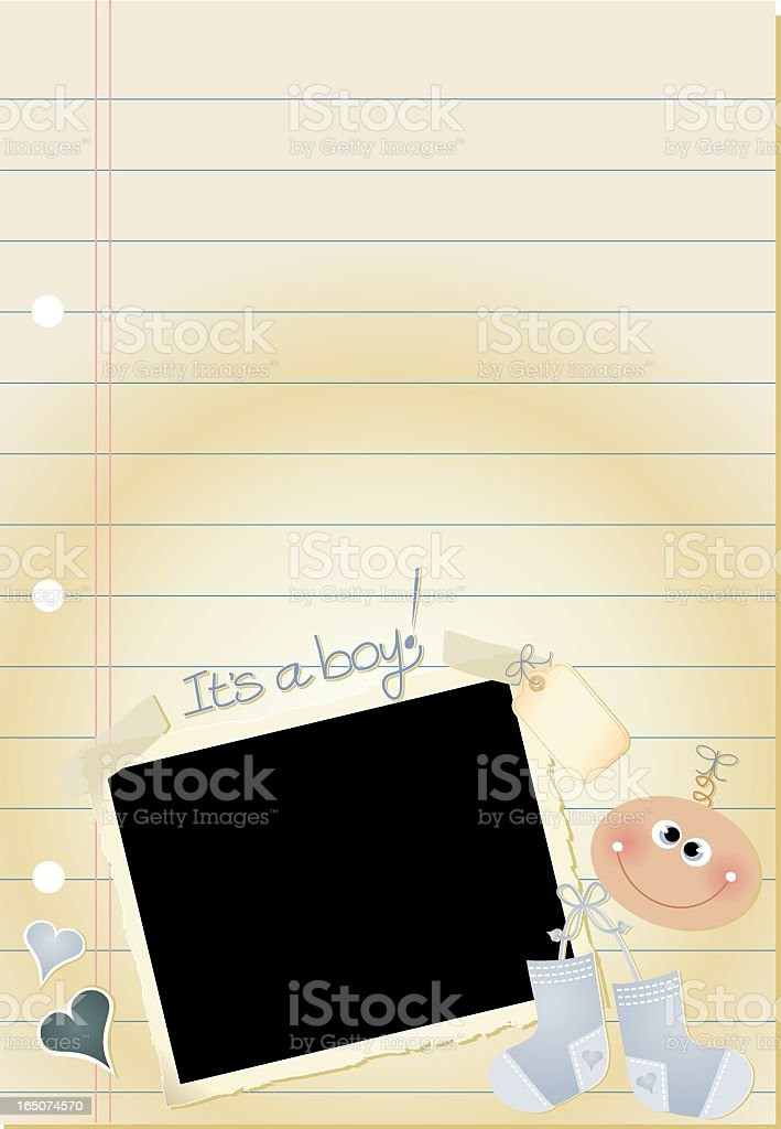 Journal Page Boy royalty-free stock vector art