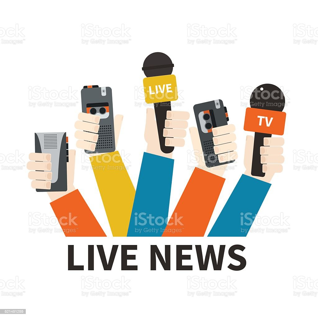 Journalism Concept vector art illustration