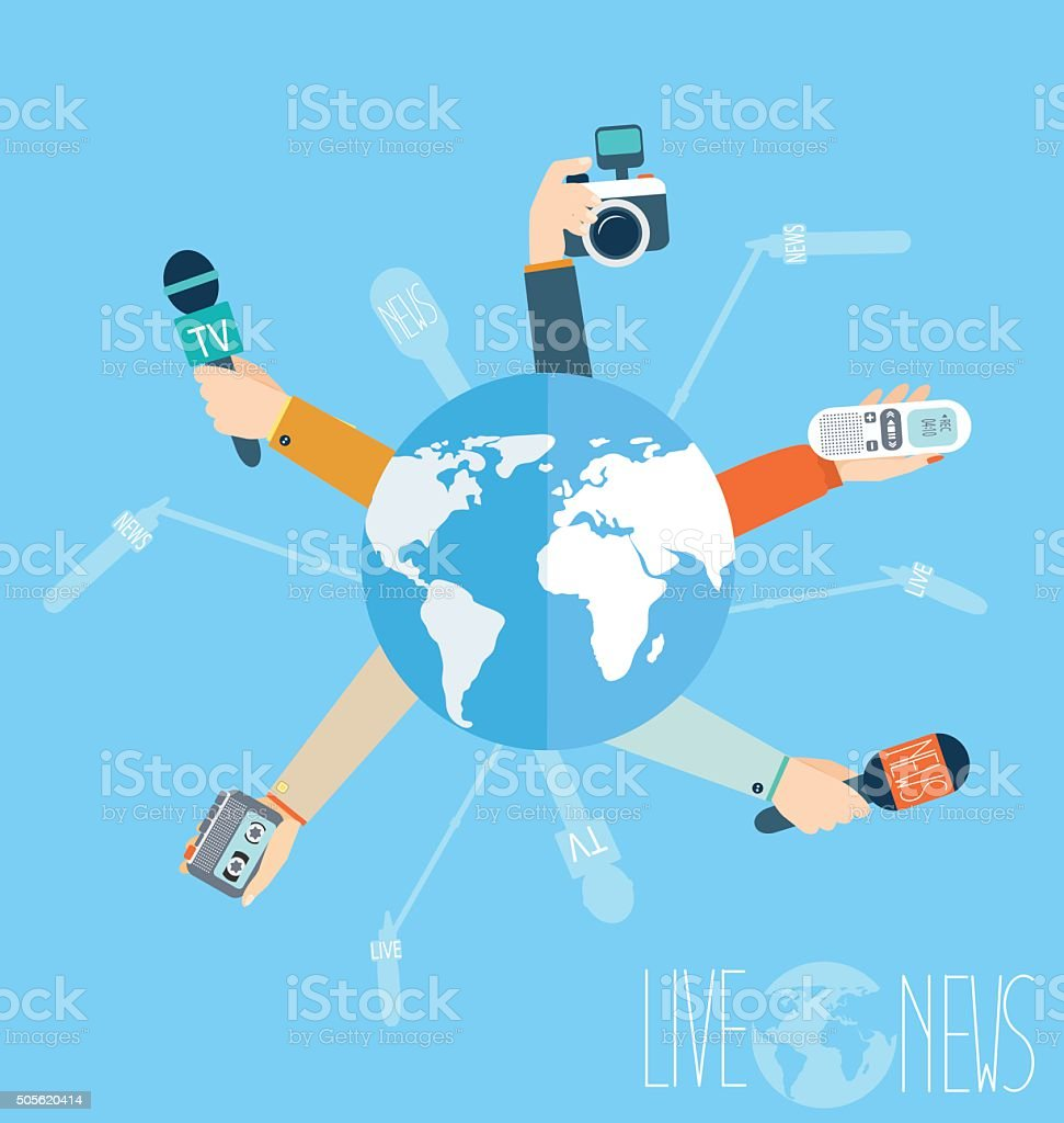 Journalism concept vector illustration in flat style. vector art illustration