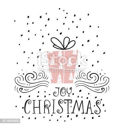 joy christmas trendy design greeting card holiday winter template の