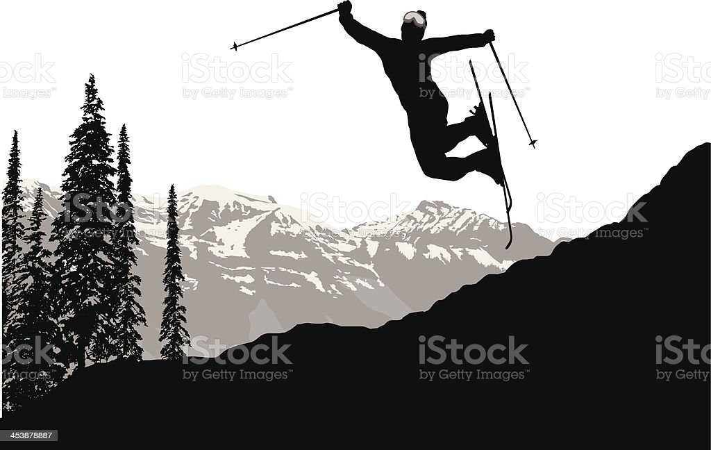 Joy Of The Slopes royalty-free stock vector art