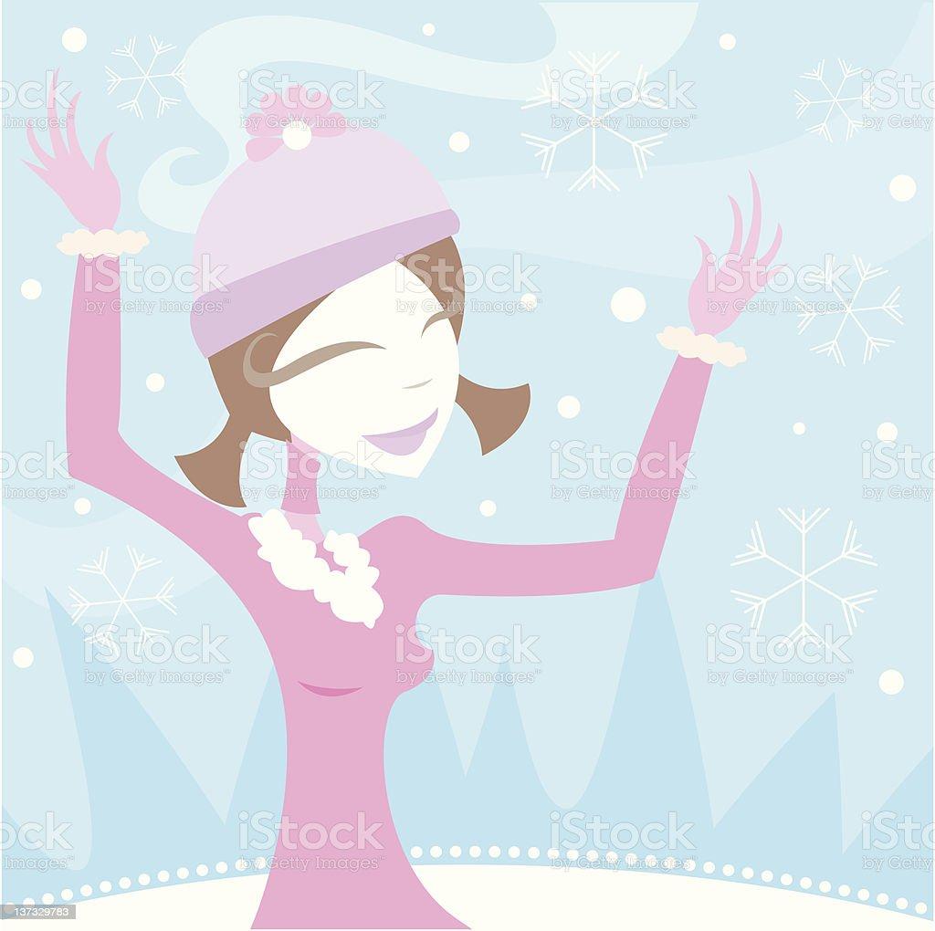 Joy of Winter royalty-free stock vector art