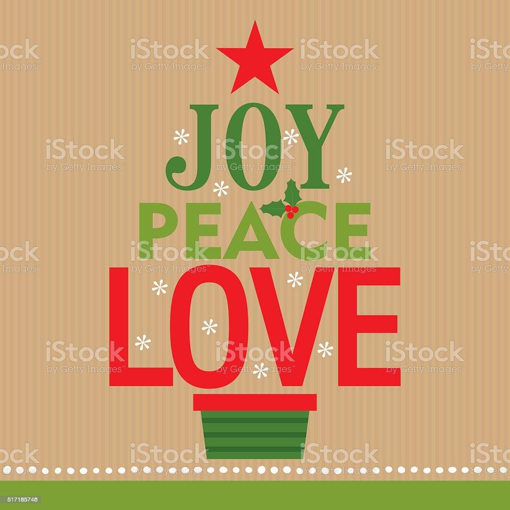 joy peace love vector art illustration