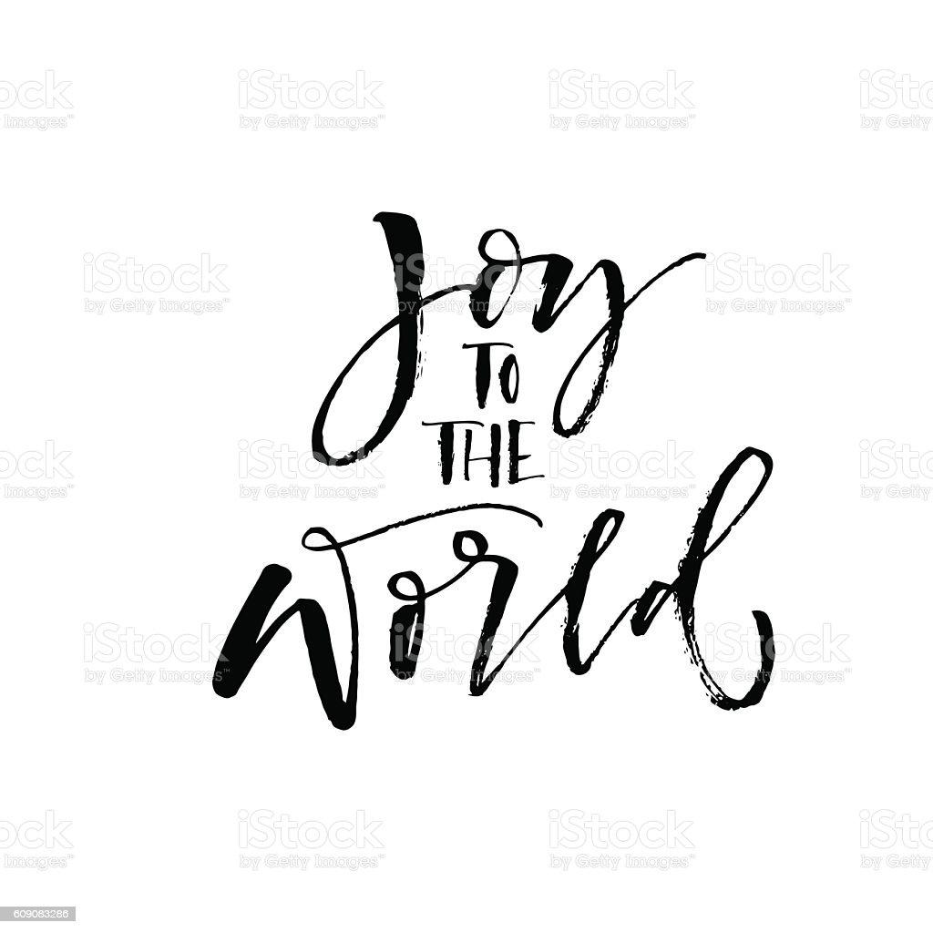 Joy to the world postcard. vector art illustration