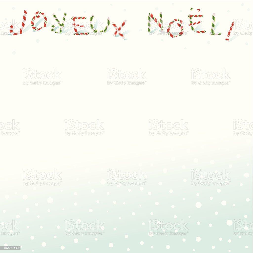 Joyeux Noel! royalty-free stock vector art