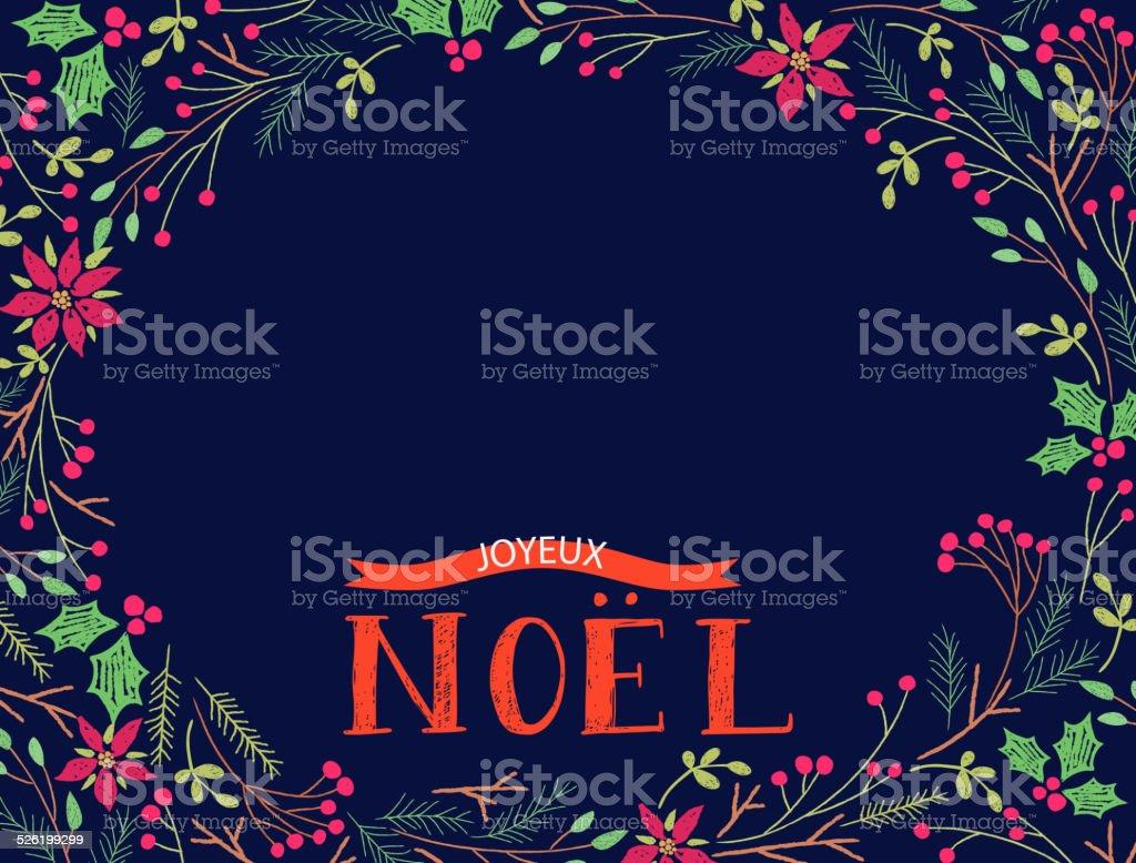 Joyeux Noel vector art illustration