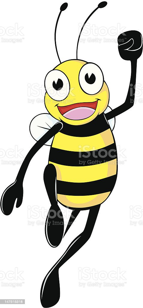 Joyful Bee vector art illustration