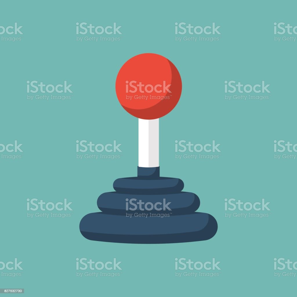 Joystick Control concept. vector art illustration