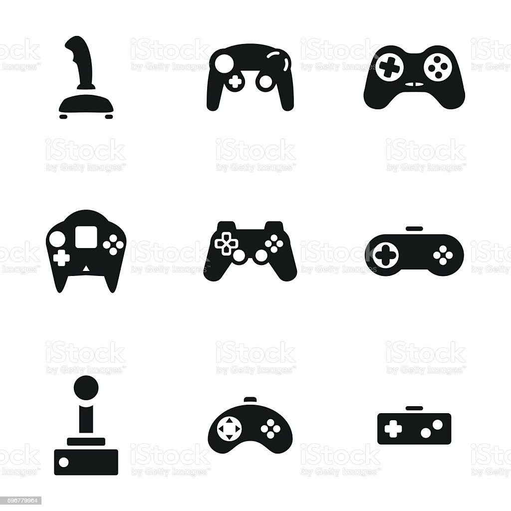Joystick vector icons vector art illustration
