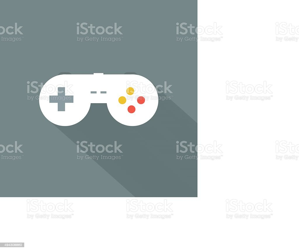 Joystickicon , Flat design style, vector illustration. long shad vector art illustration