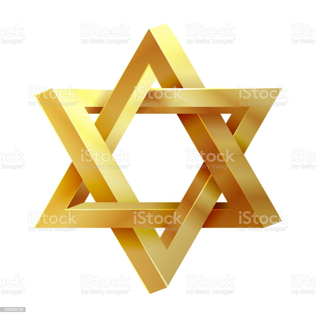 Judaism star. Seal of Solomon vector icon vector art illustration