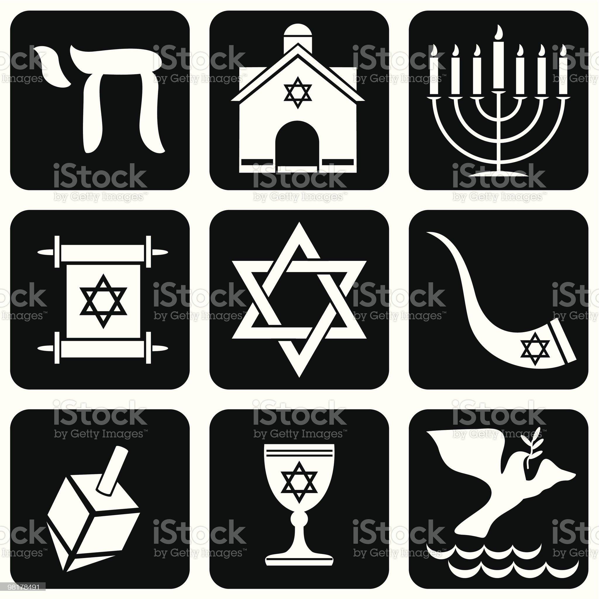 judaism symbols royalty-free stock vector art