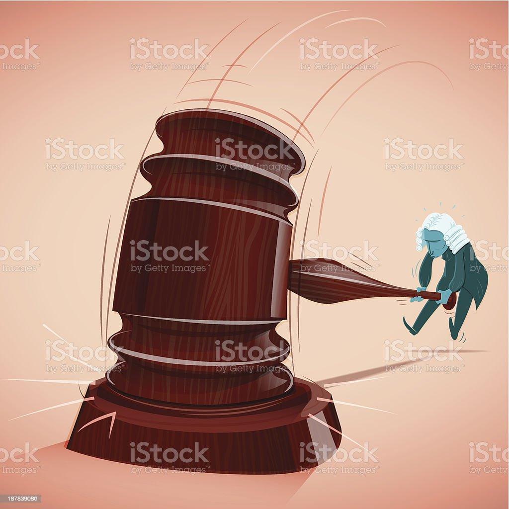 Judge Decisions vector art illustration