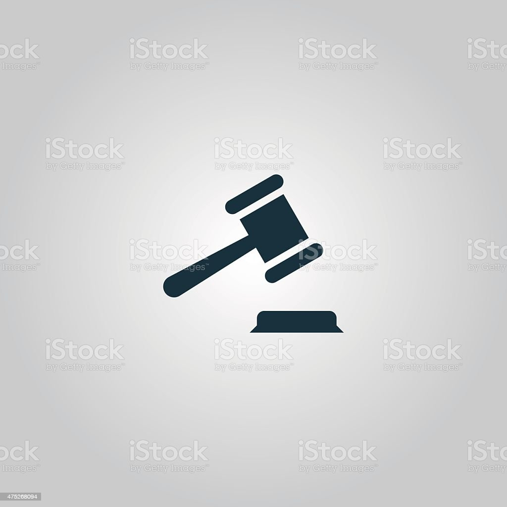 judge gavel icon vector art illustration