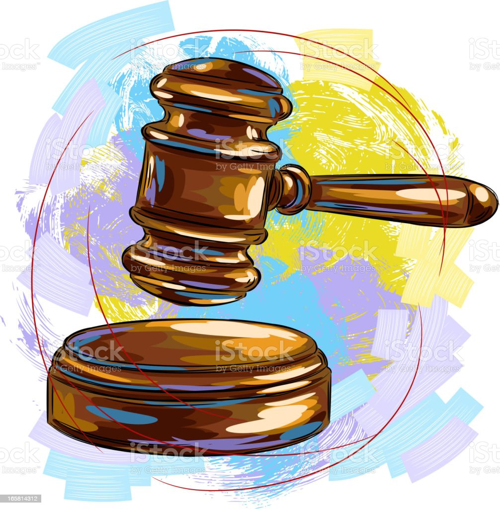 Judge Gavel vector art illustration