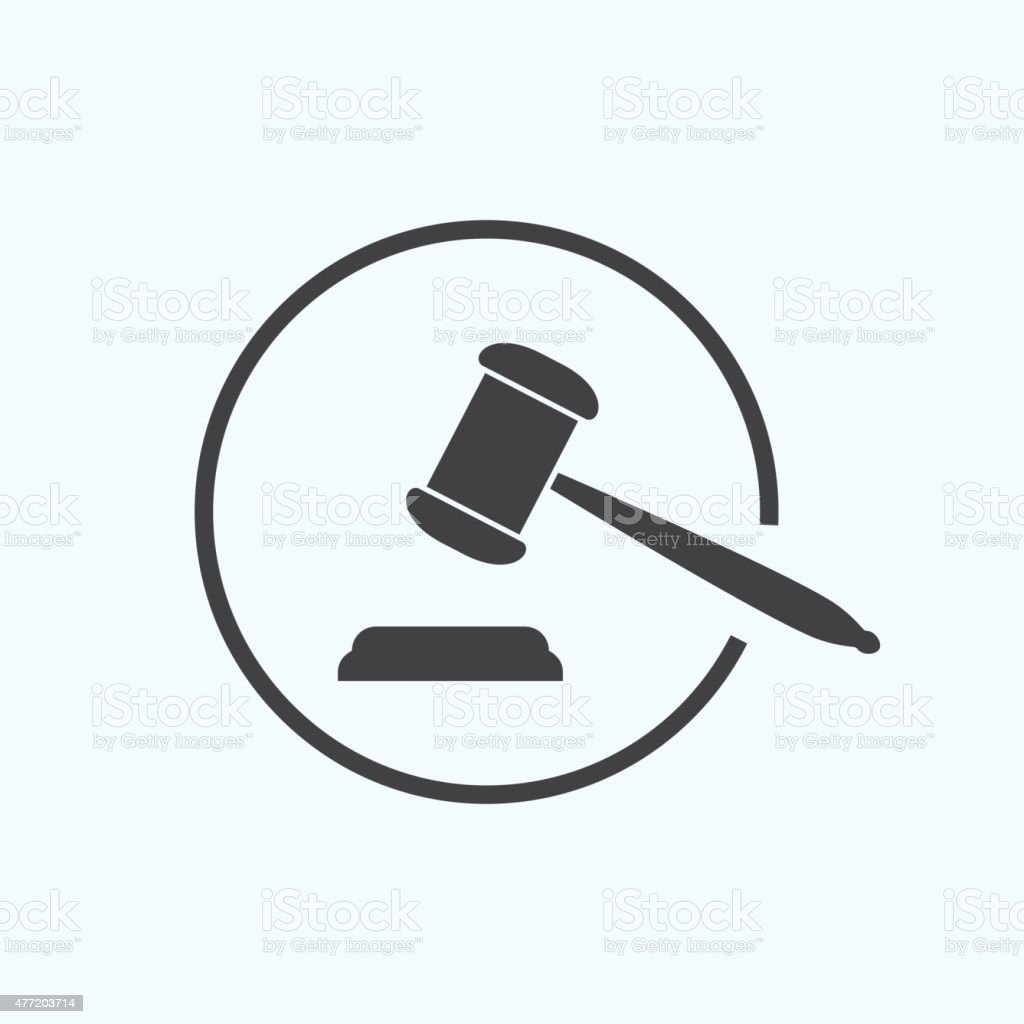 judge gavel vector art illustration