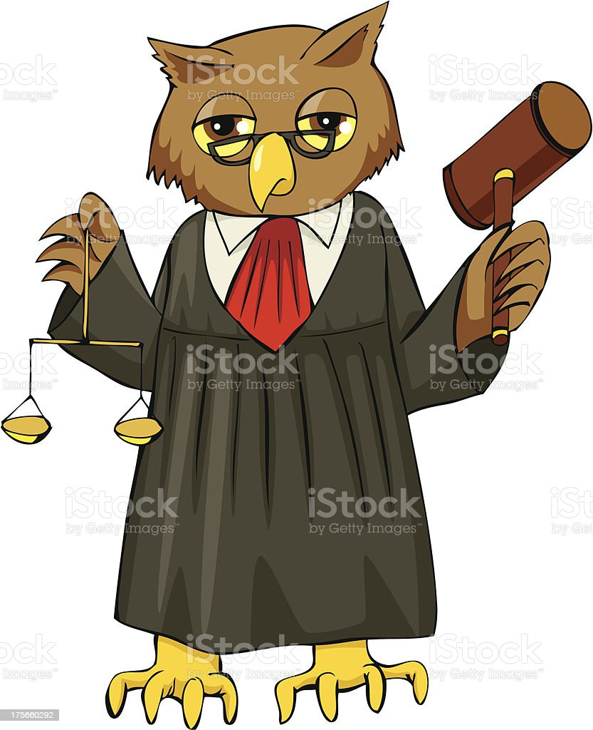 Judge royalty-free stock vector art