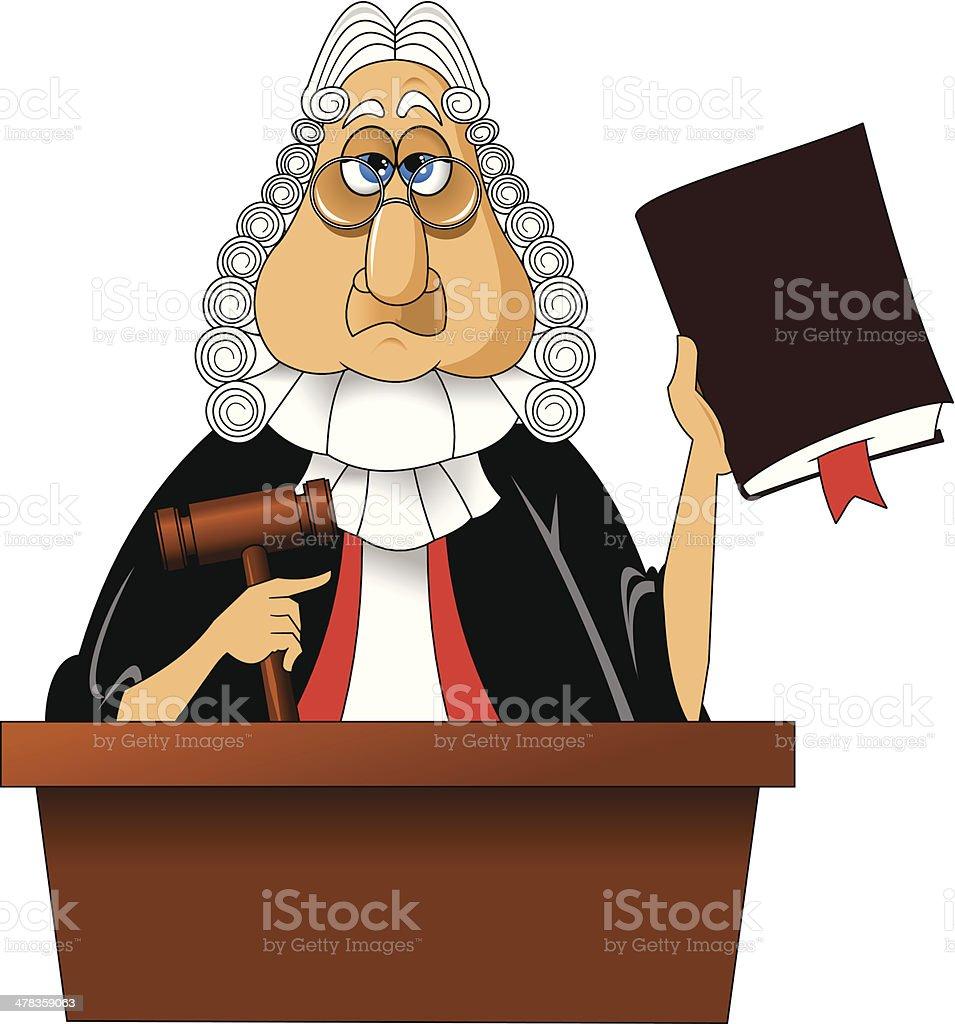 judge vector art illustration