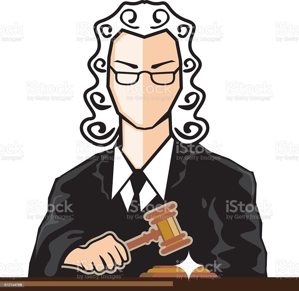 Judge vector persona vector art illustration