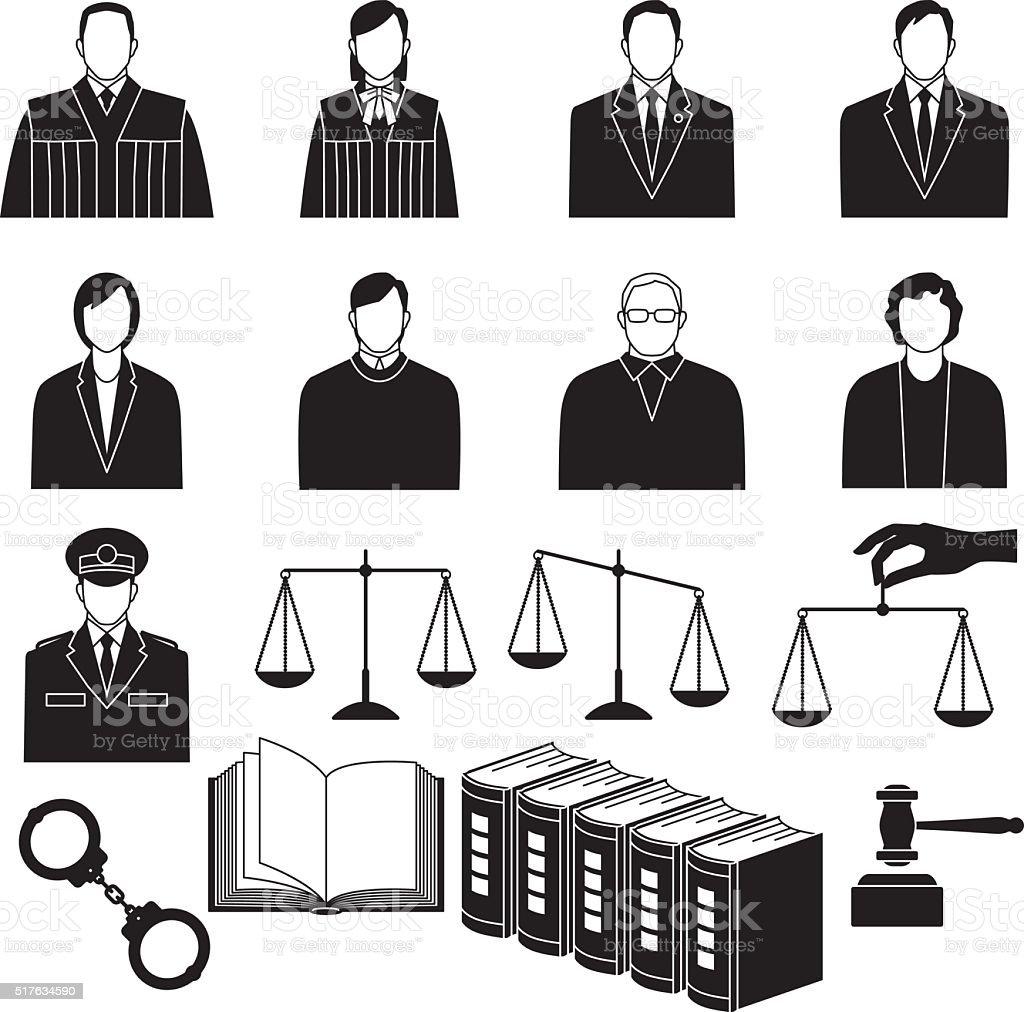 judgment vector art illustration