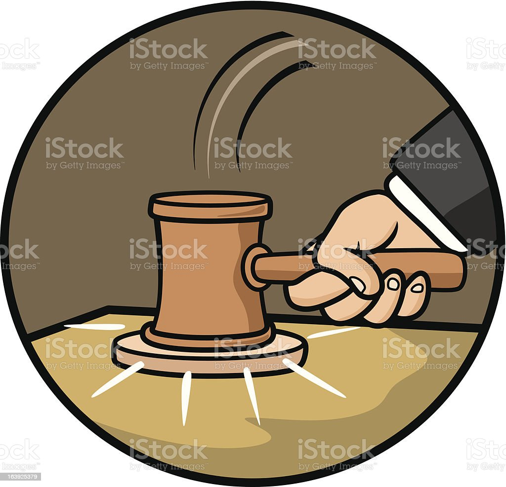 judiciary vector art illustration