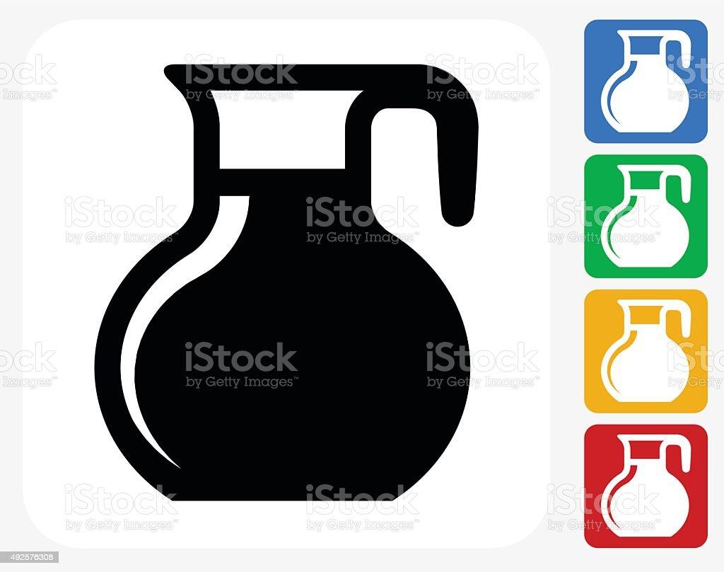 Jug Icon Flat Graphic Design vector art illustration