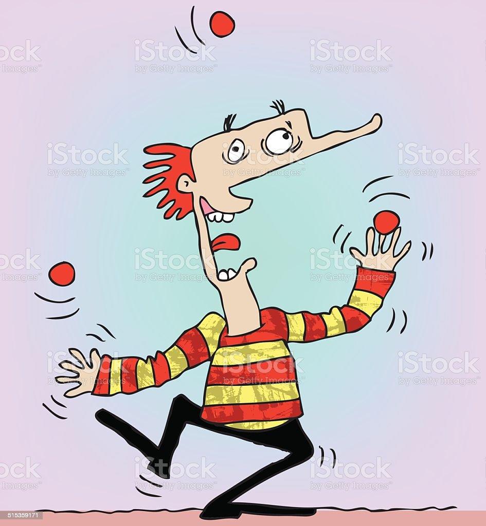 Juggler vector art illustration