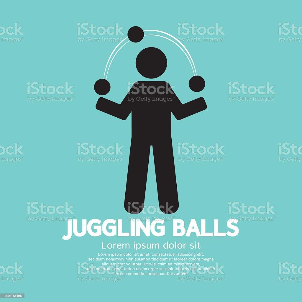 Juggling Balls Symbol. vector art illustration