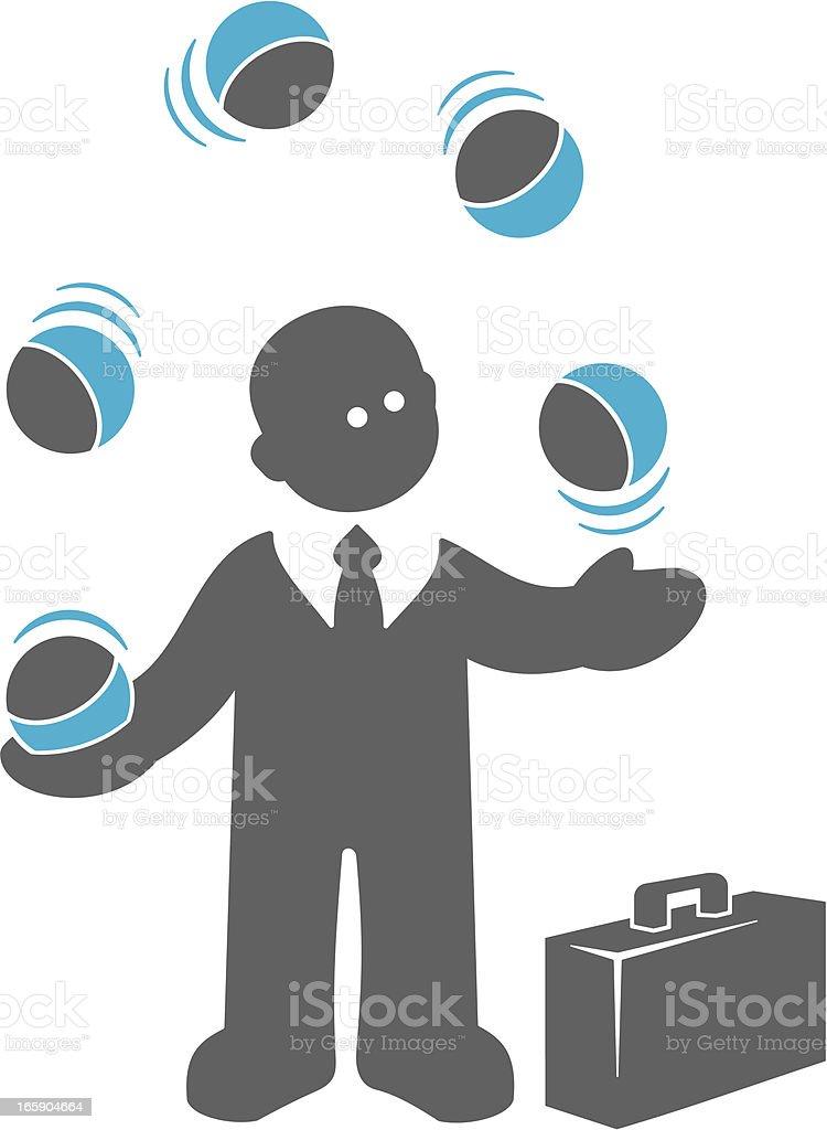 Juggling Businessman royalty-free stock vector art