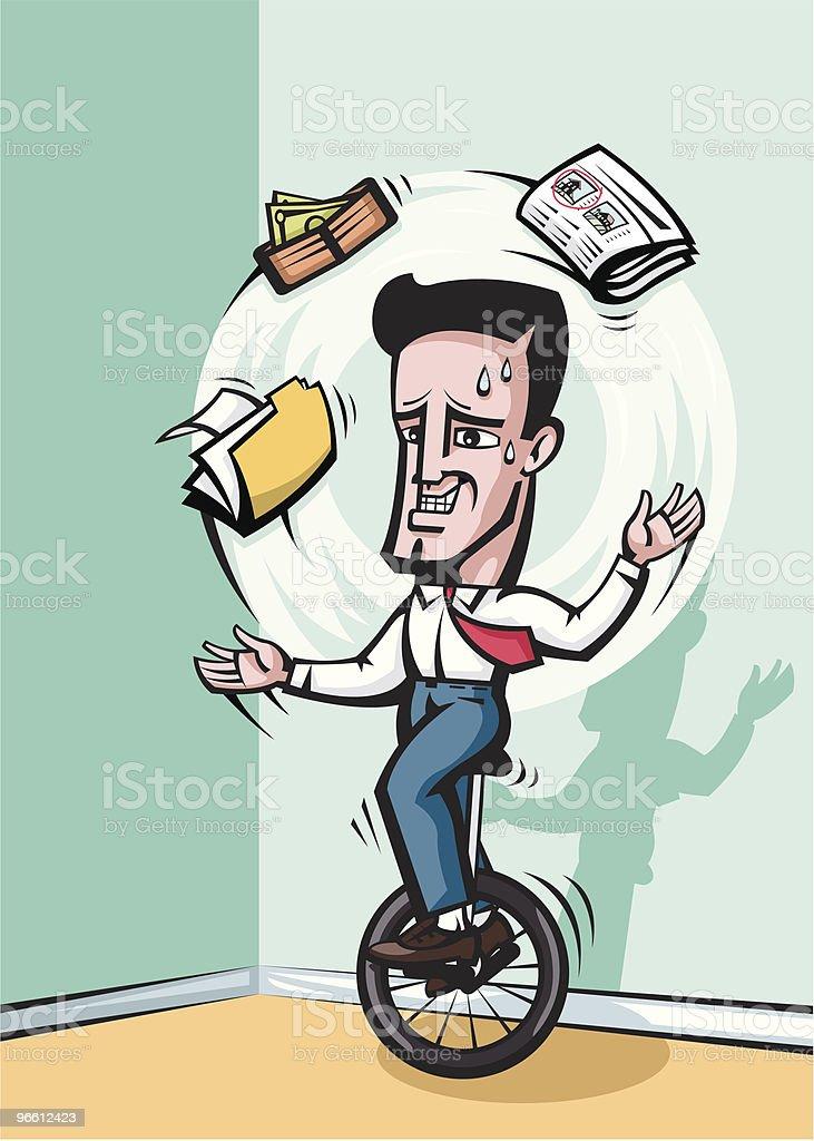 Juggling businessman vector art illustration