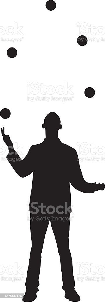 Juggling stock photo