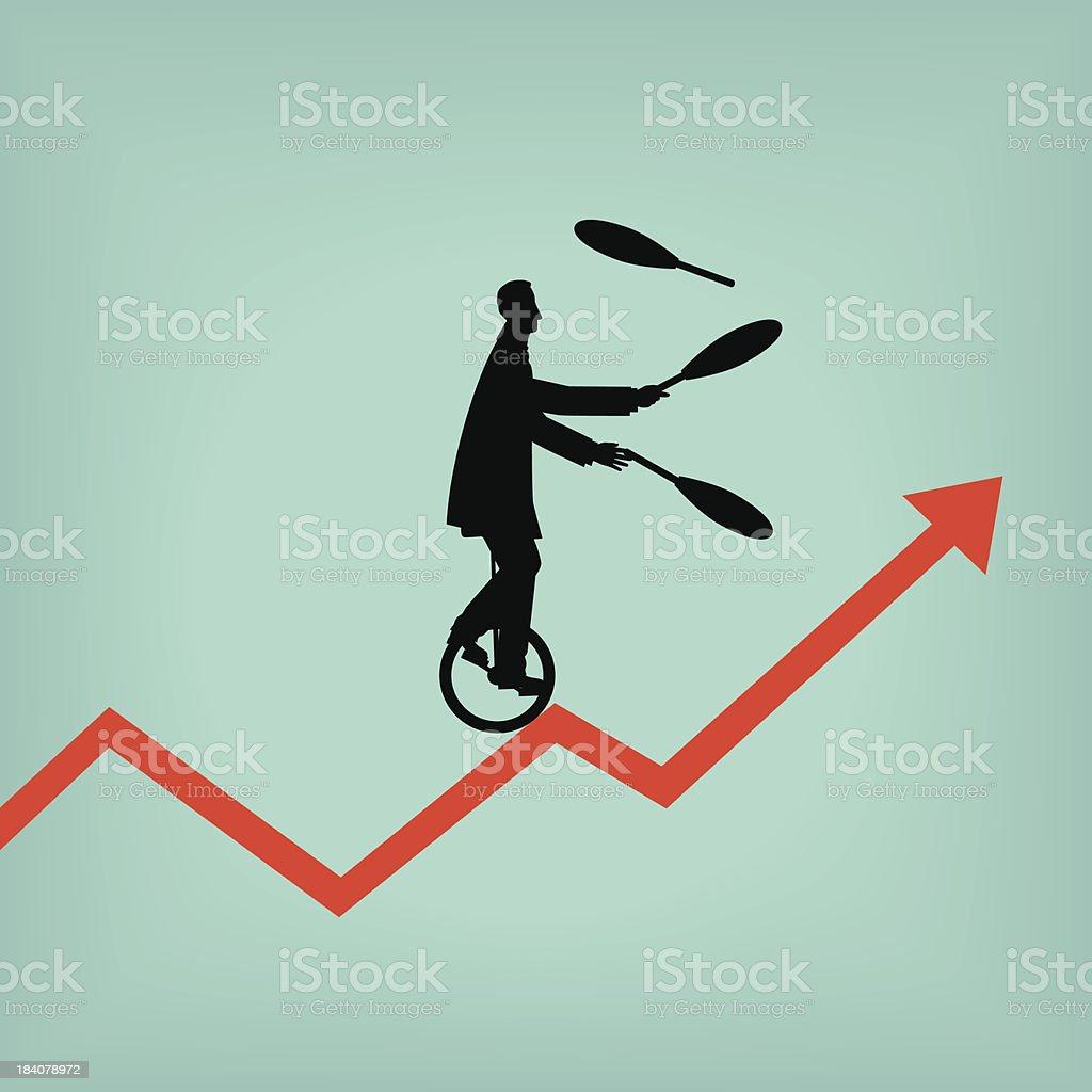Juggling vector art illustration