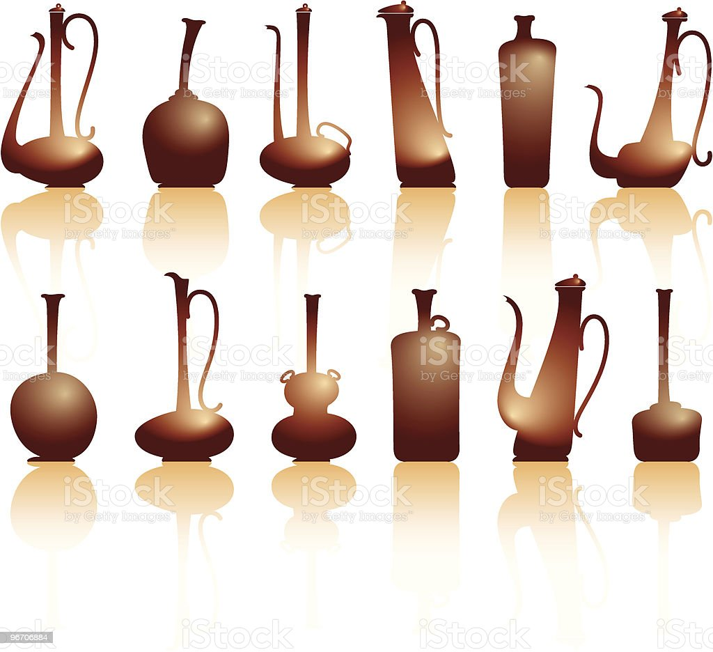 jugs&teapots royalty-free stock vector art