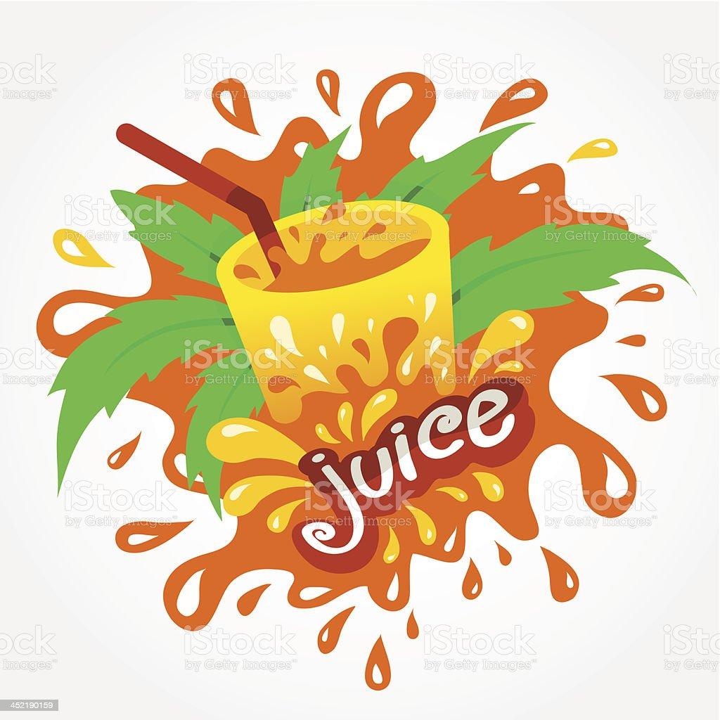 juice drink beverage splash orange royalty-free stock vector art