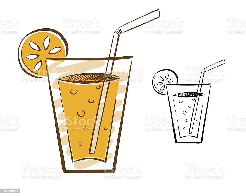 Juice Glass Illustration royalty-free stock vector art
