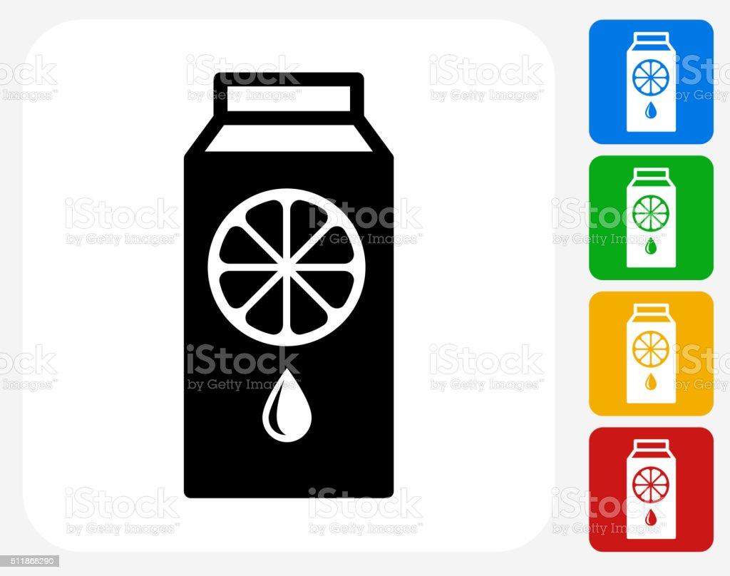 Juice Icon Flat Graphic Design vector art illustration