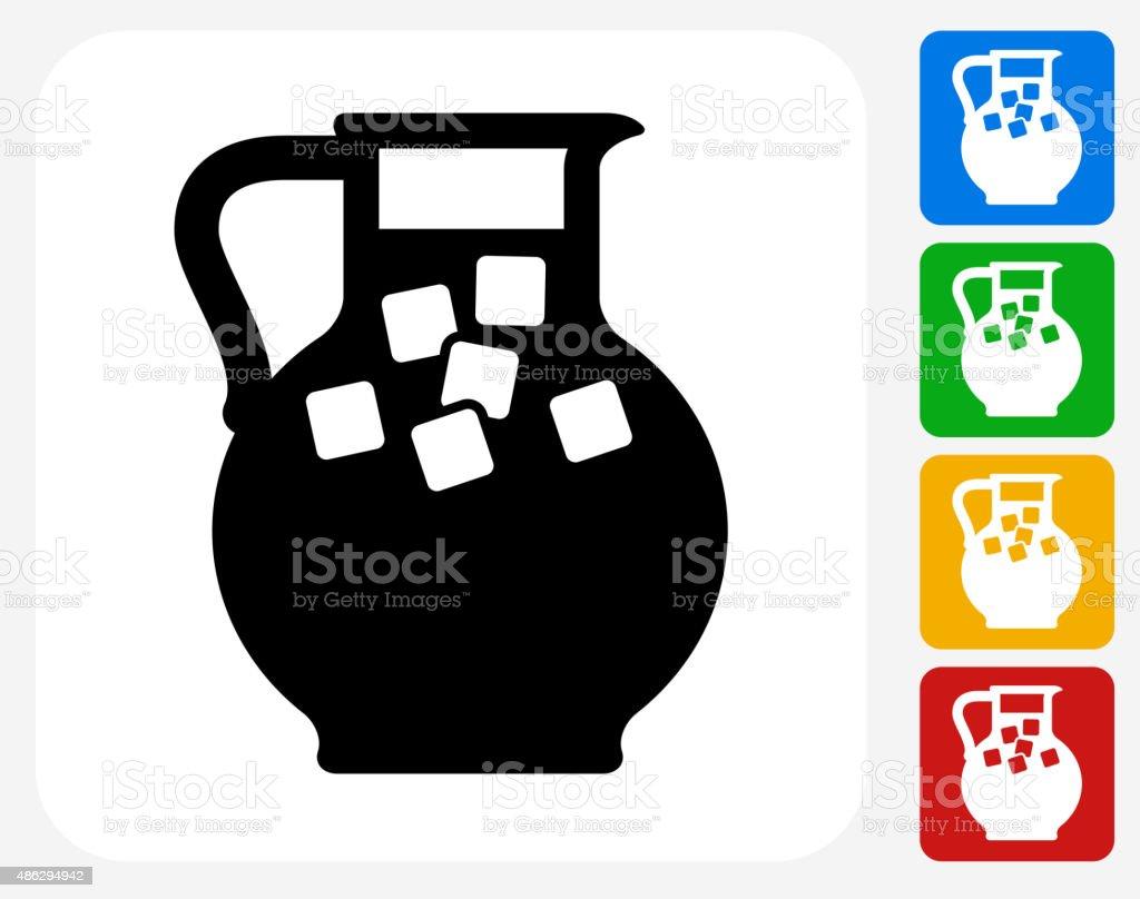 Juice Jug Icon Flat Graphic Design vector art illustration