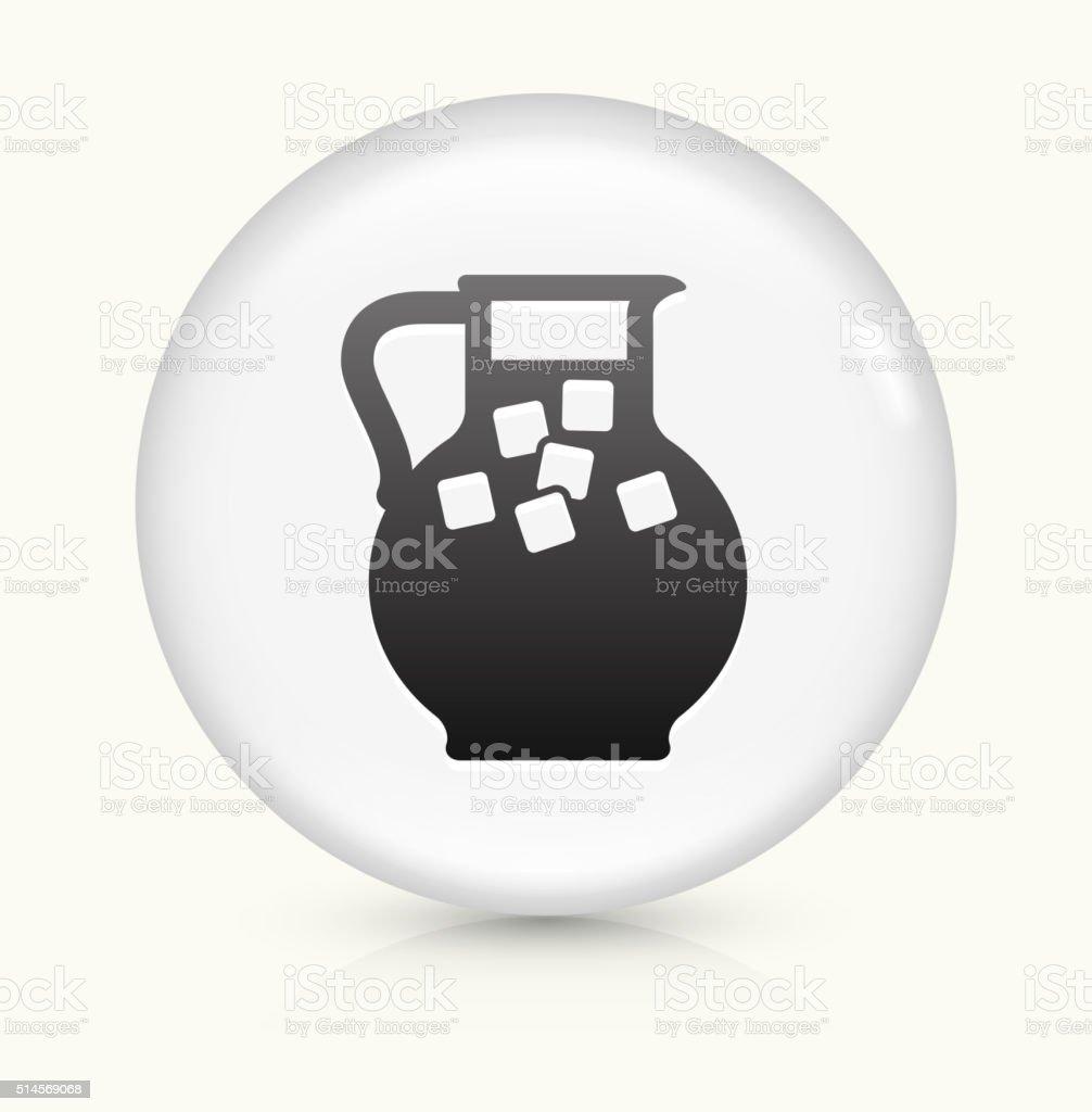 Juice Jug icon on white round vector button vector art illustration